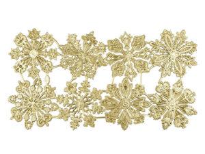 Dresdner Pappen Rosetten Bogen gold