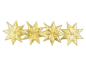 Dresdner Pappen Sternanhänger Bogen gold