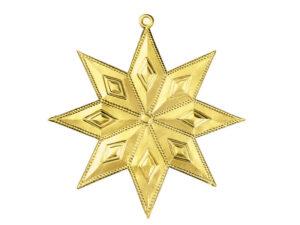Dresdner Pappen Sternanhänger Detail gold