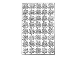 Dresdner Pappen vierblättriges Kleeblatt Bogen silber