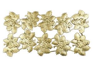 Dresdner Pappen Weintraube mit Weinblatt Bogen gold