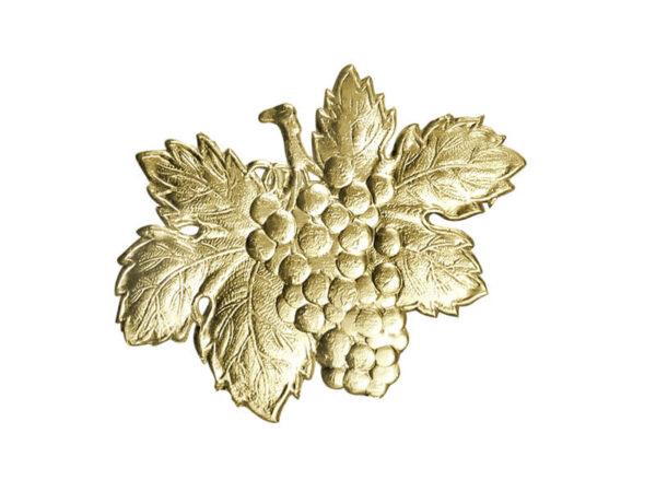 Dresdner Pappen Weintraube mit Weinblatt Detail gold
