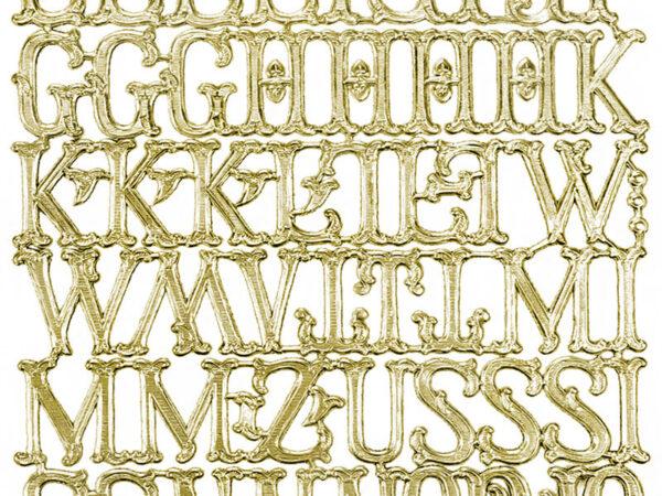 Dresdner Pappen Buchstaben Bogen gold