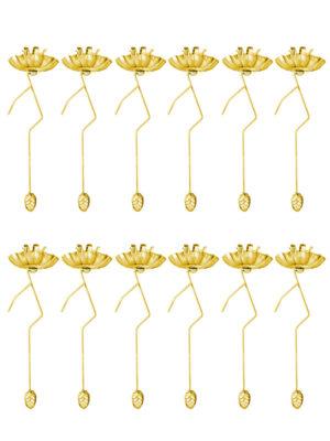 Dresdner Pappen Balance-/Pendelkerzenhalter 12er-Set gold