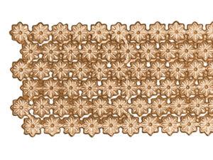 Dresdner Pappen Blumenbordüre Detail altgold