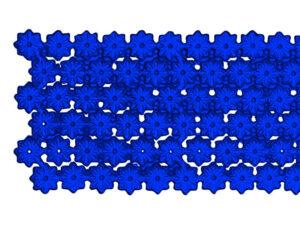 Dresdner Pappen Blumenbordüre Detail blau