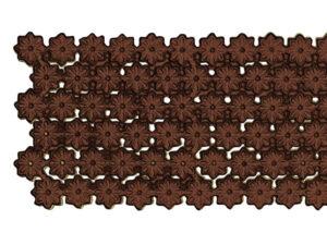 Dresdner Pappen Blumenbordüre Detail braun