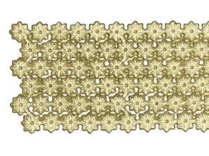 Dresdner Pappen Blumenbordüre Detail gold