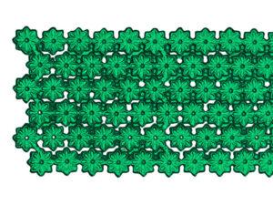 Dresdner Pappen Blumenbordüre Detail grün