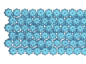 Dresdner Pappen Blumenbordüre Detail hellblau