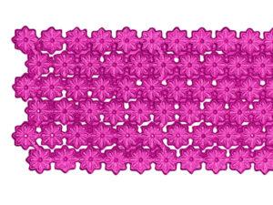 Dresdner Pappen Blumenbordüre Detail pink