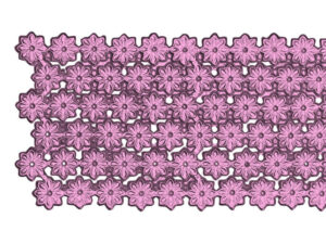 Dresdner Pappen Blumenbordüre Detail rosa