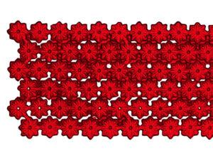 Dresdner Pappen Blumenbordüre Detail rot
