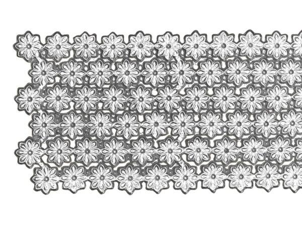 Dresdner Pappen Blumenbordüre Detail silber