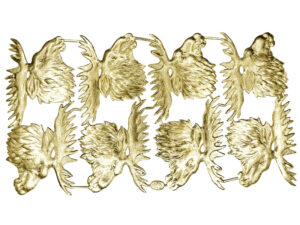 Elchkopf Dresdner Pappen Bogen gold