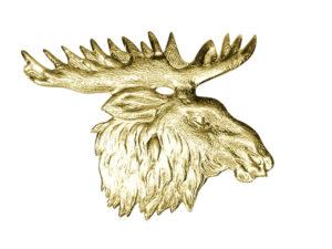 Elchkopf Dresdner Pappen Detail gold