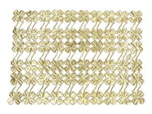 Dresdner Pappen Kleeblätter mit Stiel Bogen gold