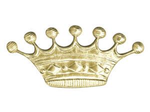 Dresdner Pappen Krone 7 Zacken Detail gold