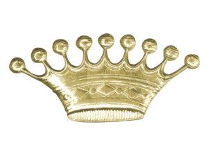 Dresdner Pappen Krone 9 Zacken Detail gold