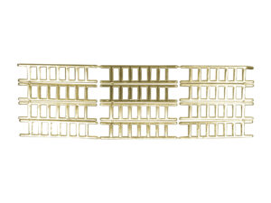 Dresdner Pappen Leiter klein Bogen gold