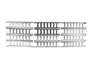 Dresdner Pappen Leiter klein Bogen silber