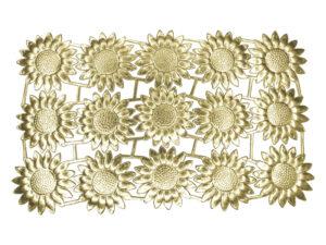 Dresdner Pappen Margeritenblüte groß Bogen gold