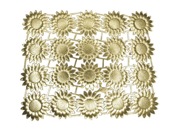 Dresdner Pappen Margeritenblüte Bogen gold