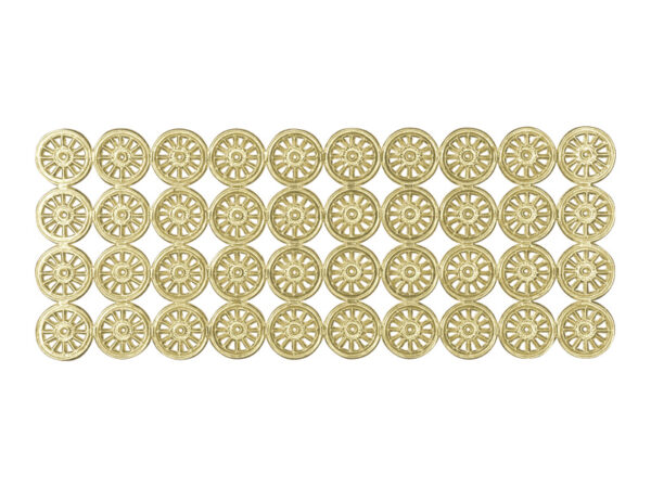 Dresdner Pappen Räder klein Bogen gold