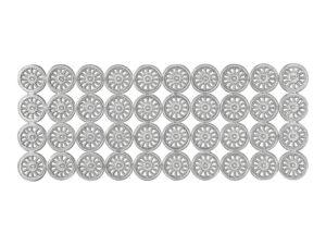 Dresdner Pappen Räder klein Bogen siber