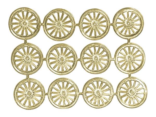 Dresdner Pappen Räder mittel Bogen gold
