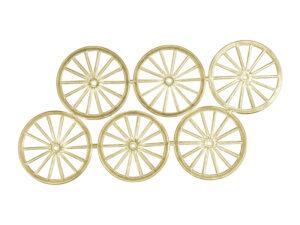 Dresdner Pappen Räder sehr groß Bogen gold