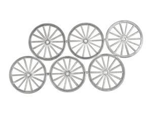 Dresdner Pappen Räder sehr groß Bogen silber