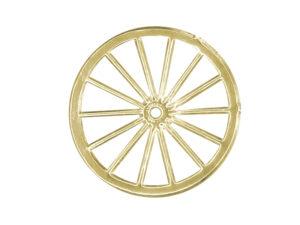 Dresdner Pappen Räder sehr groß Detail gold