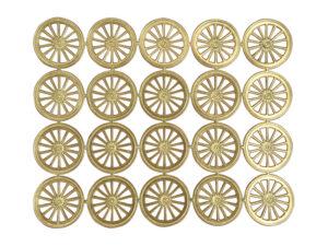 Dresdner Pappen Räder groß Bogen gold