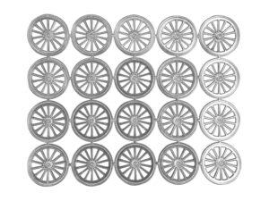 Dresdner Pappen Räder groß Bogen silber