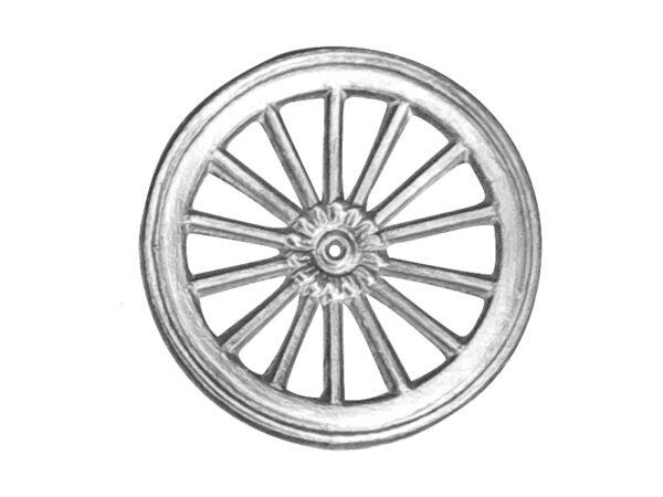 Dresdner Pappen Räder groß Detail silber