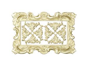 Dresdner Pappen Rahmen mit Zierecke groß Detail gold