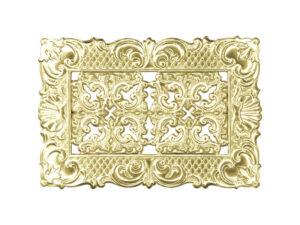 Dresdner Pappen Rahmen mit Zierecke klein Detail gold