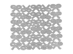 Dresddner Pappen groß Bogen silber