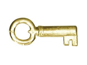 Dresdner Pappen Schlüssel klein Detail gold