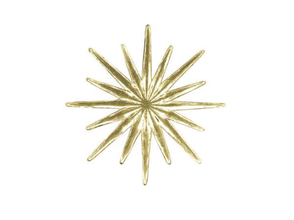 Dresdner Pappen Stern gleichmäßiger Strahl klein Detail gold