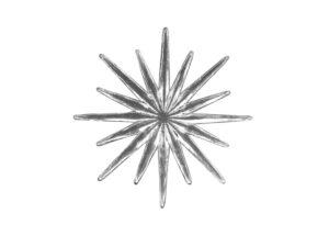 Dresdner Pappen Stern gleichmäßiger Strahl klein Detail silber