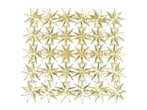 Stern im Stern Dresdner Pappen Bogen gold
