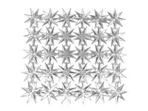 Stern im Stern Dresdner Pappen Bogen silber
