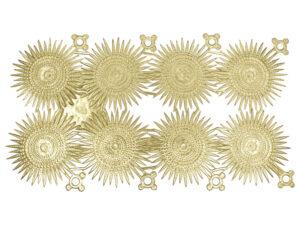 Dresdner Pappen Stern mehrstralig Bogen gold