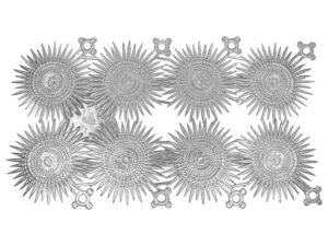 Dresdner Pappen Stern mehrstralig Bogen silber