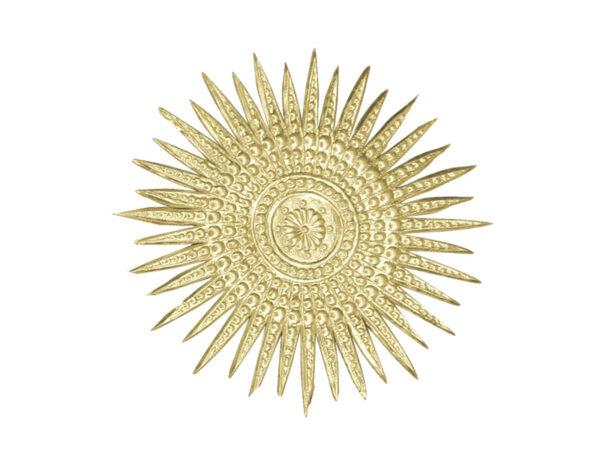 Dresdner Pappen Stern mehrstralig Detail gold