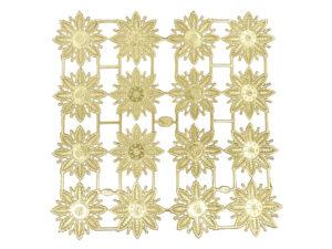 Dresdner Pappen Sternrosettenblume Bogen gold