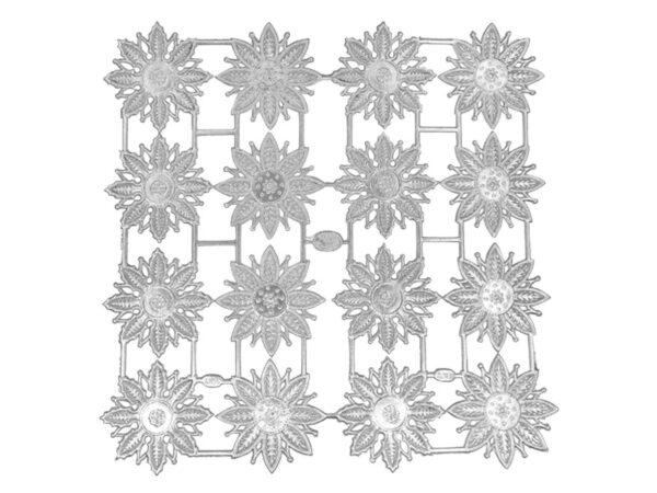 Dresdner Pappen Sternrosettenblume Bogen silber