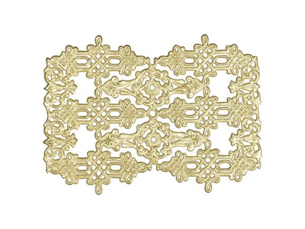 Zierecke 3 Modelle Dresdner Pappen Detail gold